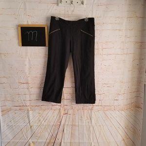 Athleta Metro Slouch Capri Pants Black Size M